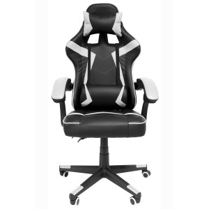 Silla Gamer Audiotek Gaming Blanca Consola Pc Ergonomica Reclinable imagen secundaria