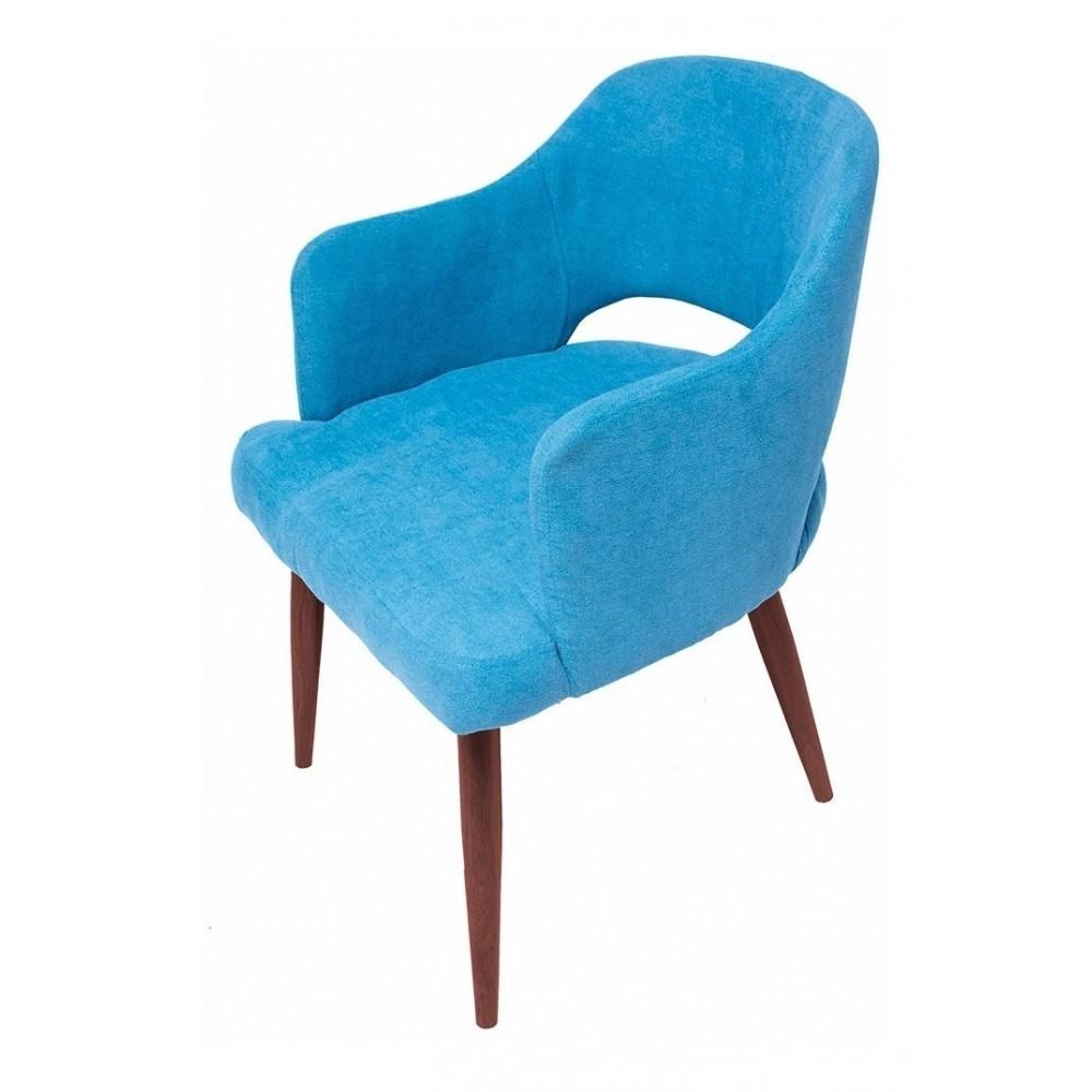 Silla Eames Tapizada Moderna Sala Sillon Vintage Azul