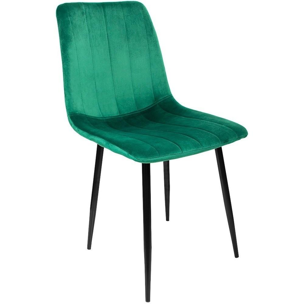 Silla Eames Tapiz Sencilla Recta Minimalista Vintage Verde
