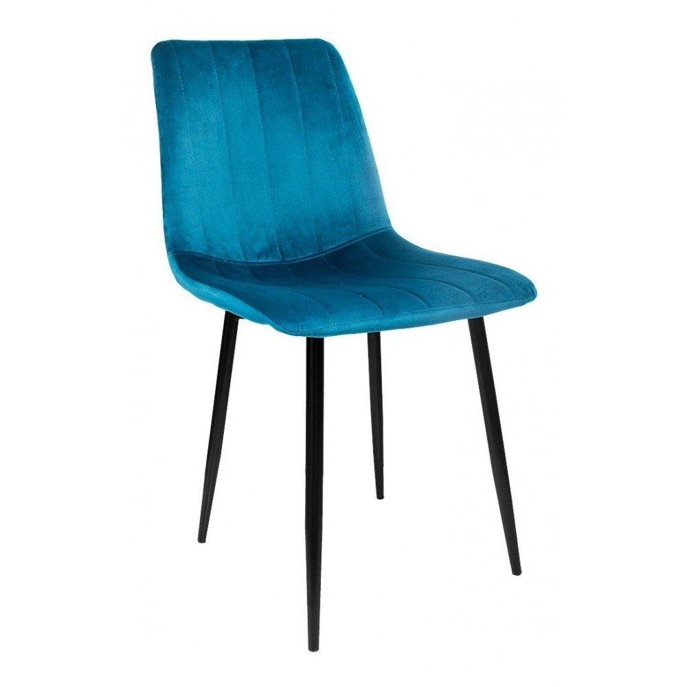 Silla Eames Tapizada Sencilla Recta Minimalista Vintage Azul