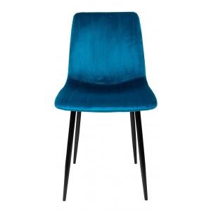 Silla Eames Tapizada Sencilla Recta Minimalista Vintage Azul imagen secundaria