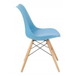 Silla Eames Comedor Moderno Cojin Vintage Madera Jardin Azul imagen secundaria