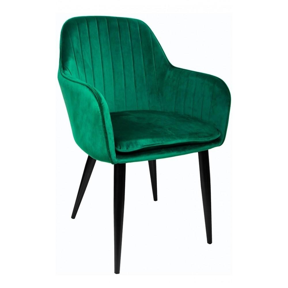Sillon Eames Tapizado Brazo Vintage Moderno Hogar Verde