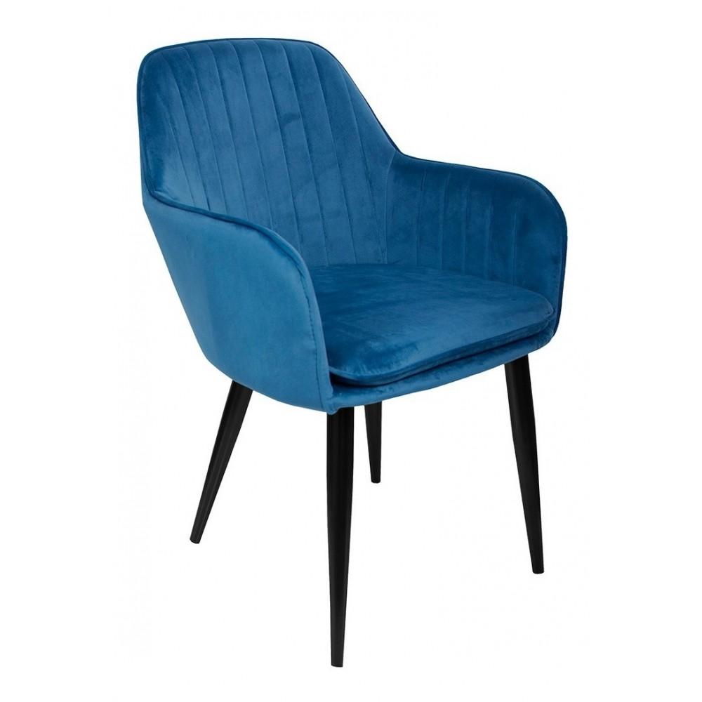 Sillon Eames Tapizado Brazo Vintage Moderno Hogar Azul