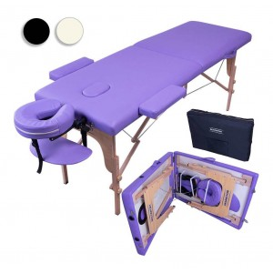 Comprar Cama Masaje 180X60 Plegable Portatil Terapia Faciales morado
