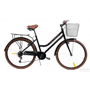 Bicicleta Vintage Retro Rodada 26 Frenos V brake Negro imagen secundaria