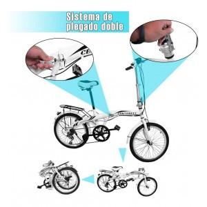 Bicicleta Plegable Retro Vintage R20 Vbrake Centurfit Ciudad imagen secundaria