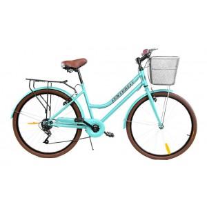 Bicicleta Vintage Menta Retro 7vel, 26r Canasta Frenos imagen secundaria