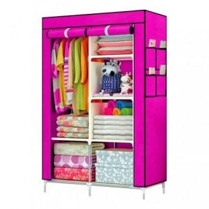 Comprar Closet Organizador Armario Tela Compartimiento Perchero Rosa