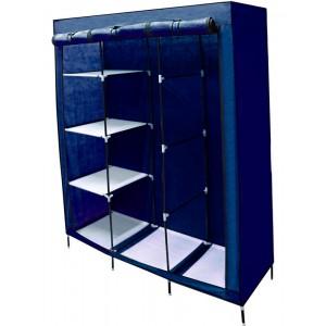 Closet Organizador 3 Puertas Compartimientos Perchero Azul imagen secundaria