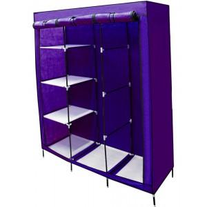Closet Organizador 3 Puertas Compartimientos Perchero Morado imagen secundaria