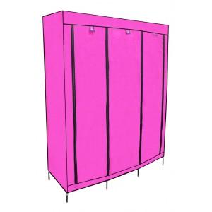 Closet Organizador 3 Puertas Compartimientos Perchero Rosa imagen secundaria