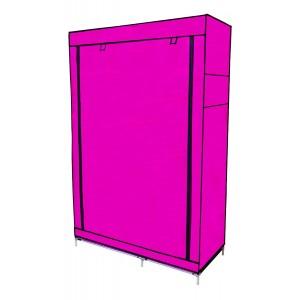 Closet Organizador Armario Tela Compartimiento Perchero Rosa imagen secundaria