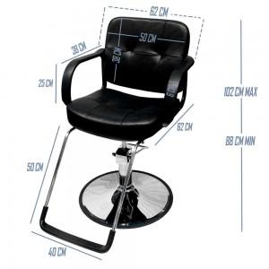 Silla Barbero Estética Sillón Ajustable Hidráulico Salón Spa imagen secundaria