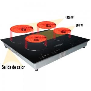 Parrilla Electrica Estufa Inducción 4 Quemadores 110 V imagen secundaria