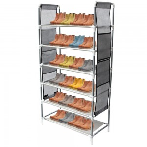 Comprar Zapatera Organizador Zapatos 6 Niveles Compartimientos Metal