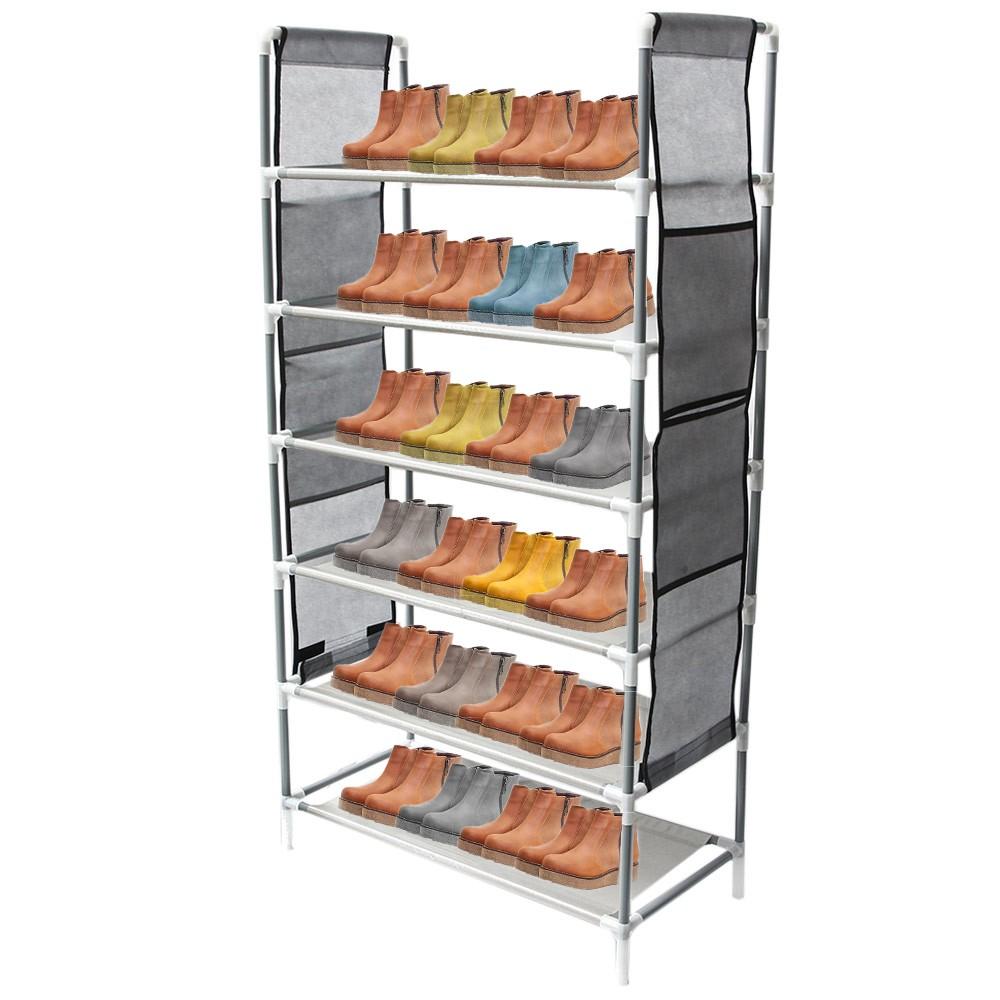 Zapatera Organizador Zapatos 6 Niveles Compartimientos Metal