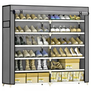 Comprar Zapatera Organizador 36 pares Compartimientos Metal Gris