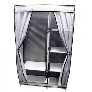Closet Zapatera Organizador Compartimientos Metal Gris imagen secundaria