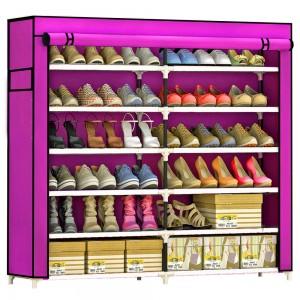 Comprar Zapatera Organizador 36 pares Compartimientos Metal Rosa