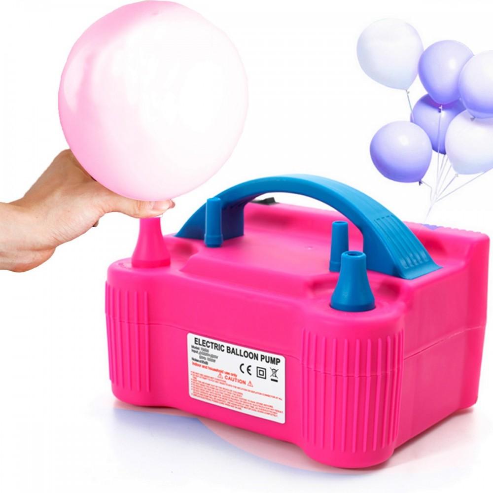 Bomba Electrica Doble Infla Globos 220v Compresor Cumpleaños