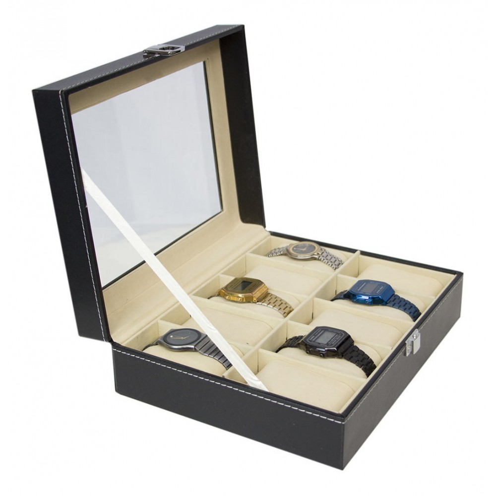 Estuche Relojes Caja Exhibidor Almohadillas 10 Relojes Alaja