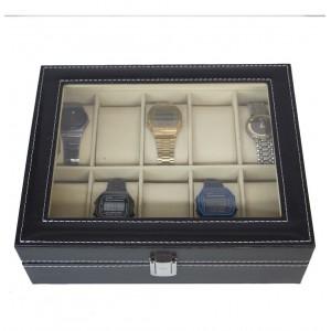 Estuche Relojes Caja Exhibidor Almohadillas 10 Relojes Alaja imagen secundaria