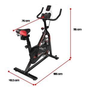 Bicicleta Fija Spinning Centurfit 7kg Fitness Cardio Gym imagen secundaria