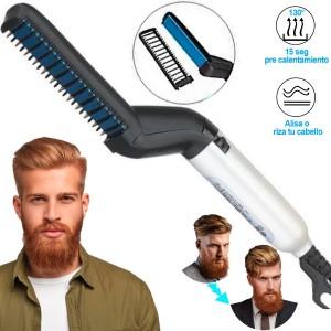 Comprar Plancha Barba Alisador Cepillo Electrico Electrico Barberia