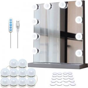 Comprar Focos Espejo Maquillaje Tocador 10 Luces Led Luz Hollywood