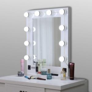 Focos Espejo Maquillaje Tocador 10 Luces Led Luz Hollywood imagen secundaria
