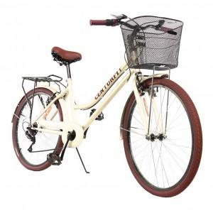 Comprar Bicicleta Vintage Menta Retro 7vel, 26r Canasta Frenos