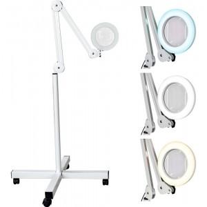 Comprar Lampara Estetica Spa Barbería Facial Lupa 5x Pedestal Acero