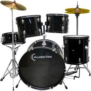 Comprar Bateria Musical Acustica 5 Piezas 22 Tambor Baquetas