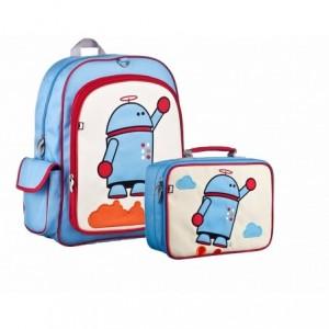 Comprar Kit Set Mochila Lonchera Beatrix Niño Escuela Niña Robot