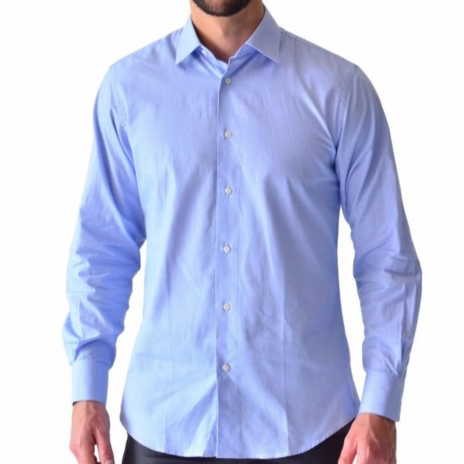 Camisa Tallas Extra Hombre Casual Azul Cielo Rack & Pack