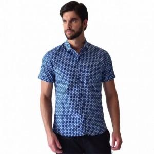 d2f02e8d1b672 Agregar a la lista de deseos. Vista rápida. Camisa Hombre Casual Manga  Corta Azul Varios Rack   Pack