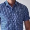 Camisa Hombre Casual Manga Corta Azul Varios Rack & Pack