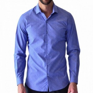 Comprar Camisa Hombre Manga Larga Azul Rack & Pack Envío Gratis