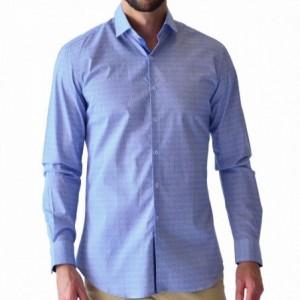 Comprar Camisa Hombre Caballero Vestir Manga Larga Azul Rack & Pack
