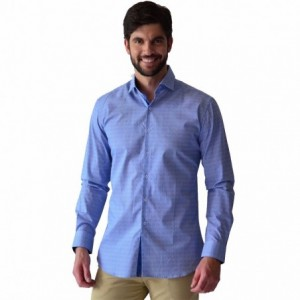 Camisa Hombre Caballero Vestir Manga Larga Azul Rack & Pack imagen secundaria