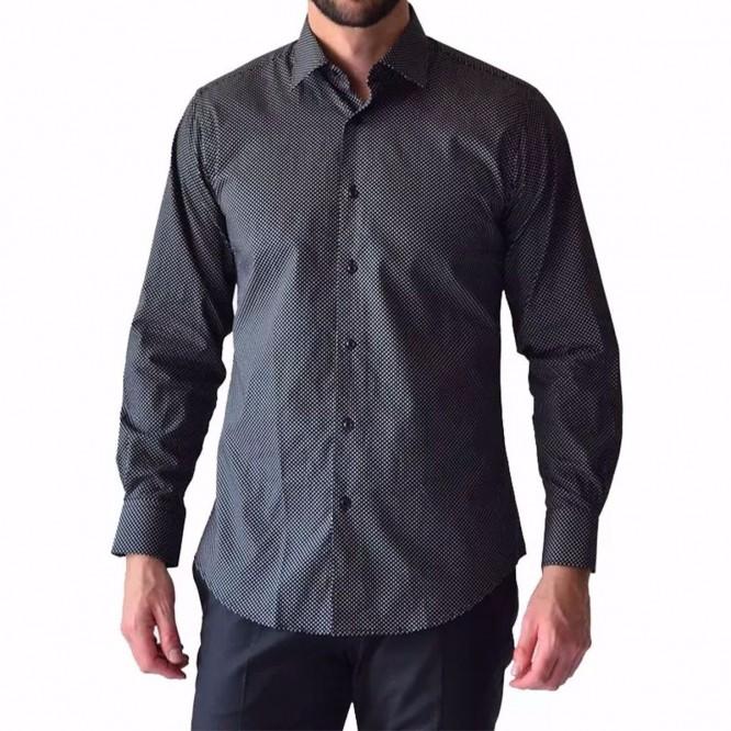 Camisa Hombre Xl Casual Manga Larga Puntos Rack & Pack