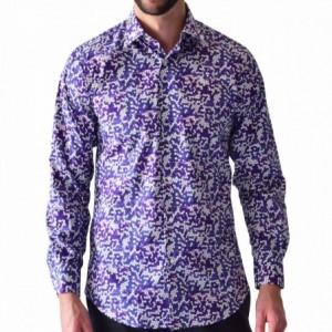 Comprar Camisa Hombre Casual Manga Larga Morado Rack & Pack  Algodon