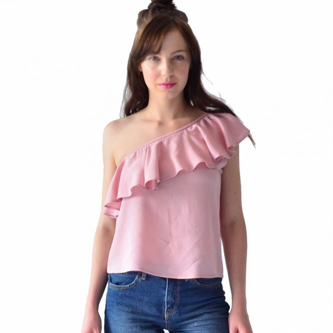 Blusa Mujer Rack & Pack Casual Asimétrica Color Rosa