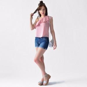 Blusa Mujer Rack & Pack Casual Asimétrica Color Rosa imagen secundaria