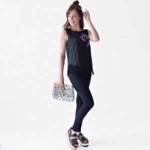 Blusa Mujer Rack & Pack Color Negro Diseño Dragon imagen secundaria