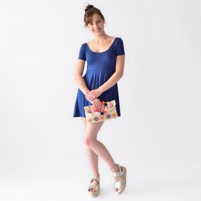 Vestido Corto Casual Ropa Mujer Rack & Pack Dama Azul Verano