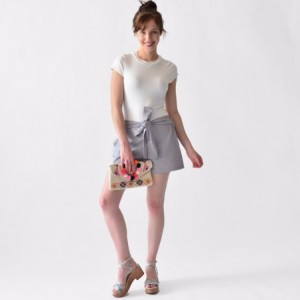 Short Mujer Casual Color Gris Con Moño Rack & Pack imagen secundaria