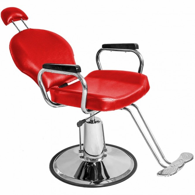 Silla Sillon Hidraulica Reclinable Barberia Salon Estetica